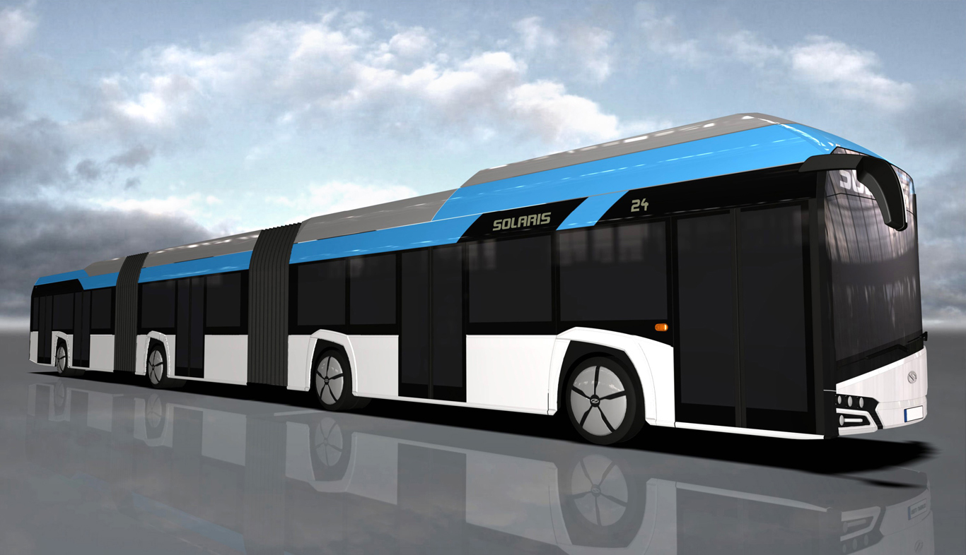 Solaris develops bi-articulated electric bus