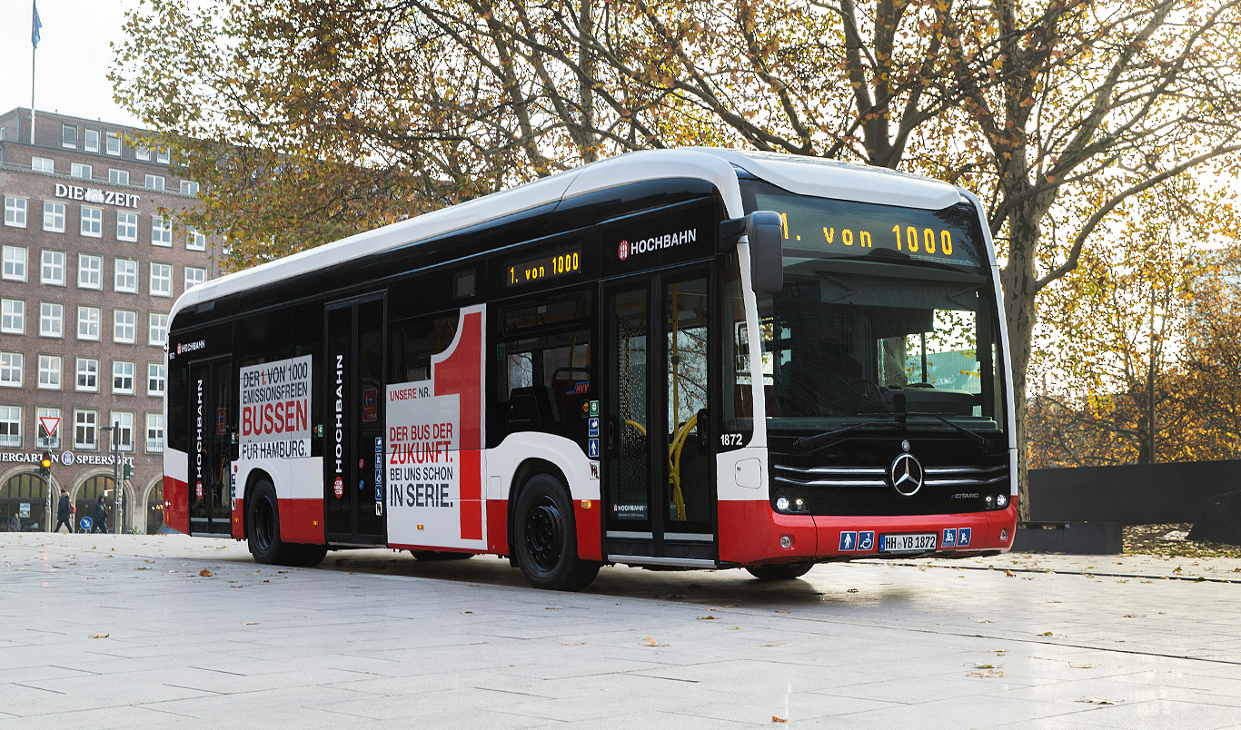 Mercedes-Benz supplies the first fully electrical urban bus