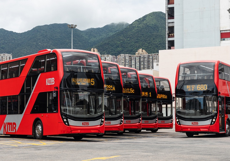 Alexander Dennis awarded 180 Enviro500 double deck bus order from Hong Kong operator KMB