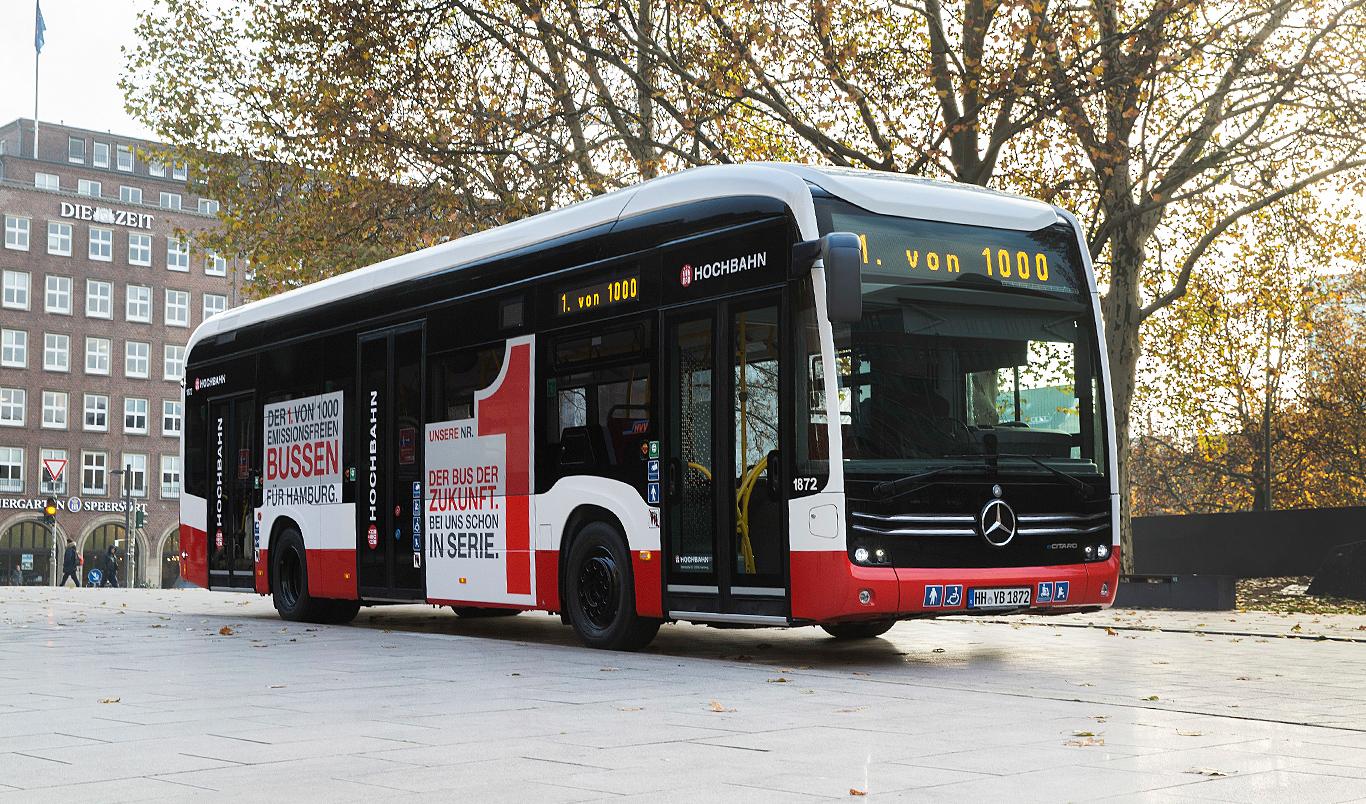 Mercedes-Benz liefert den ersten vollelektrischen Stadtbus eCitaro