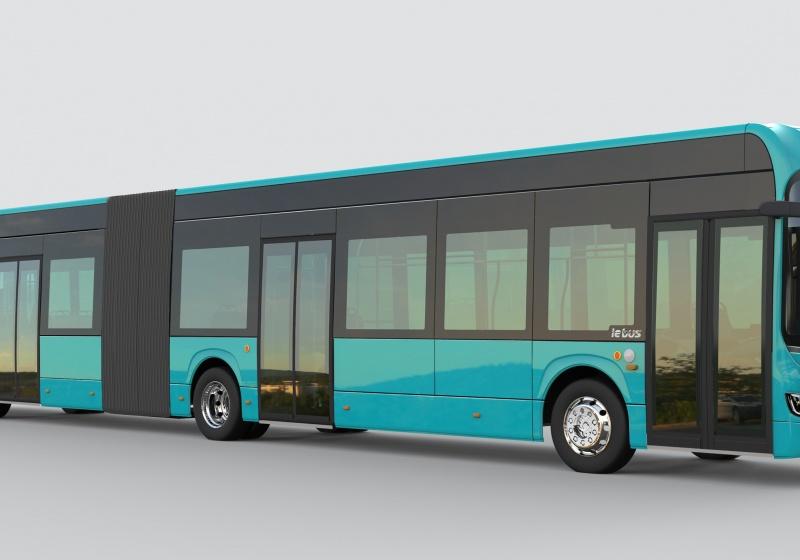 Articulated Irizar ie bus for Frankfurt