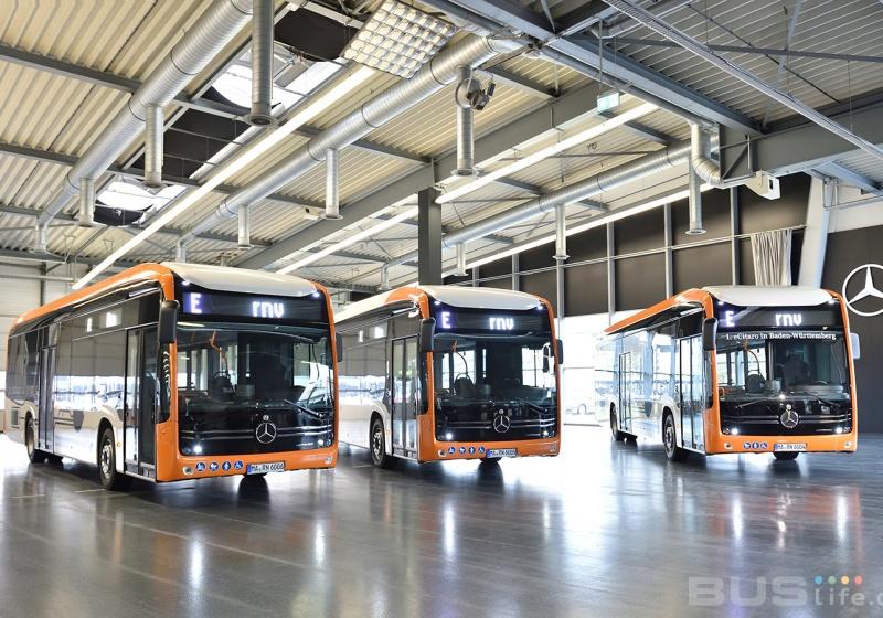 Vollelektrische Stadtbusse von Mercedes-Benz für Mannheim und Heidelberg