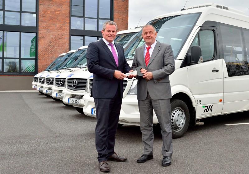 Der Regionalverkehr Köln fährt Minibusse von Mercedes-Benz