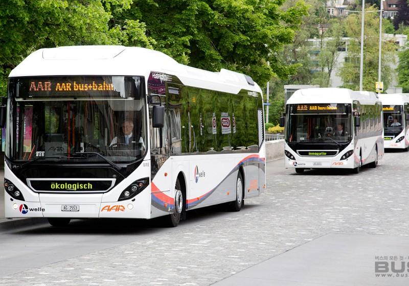 볼보버스 - 스위스에 하이브리드 버스 13대 공급