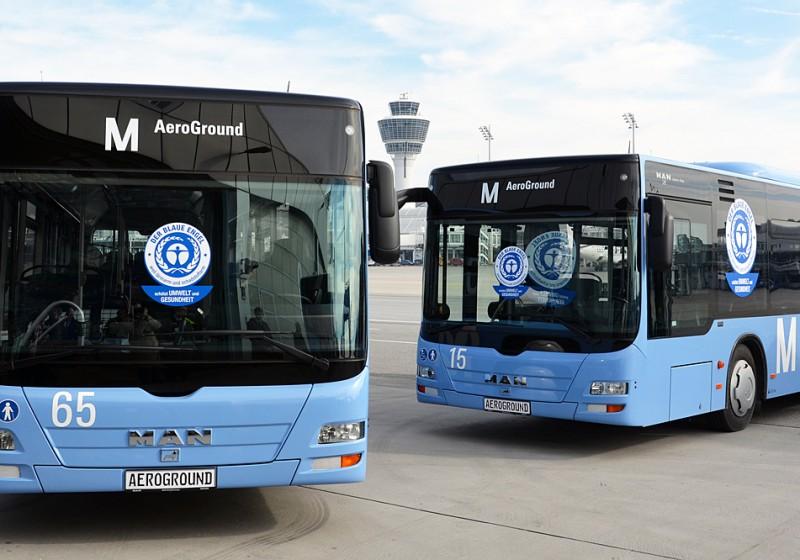 Flughafen München setzt auf umweltfreundliche MAN-Busse