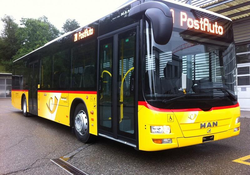 PostAuto Schweiz fährt Busse von MAN