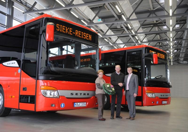 Sieke KG erneuert ihren Setra Fuhrpark