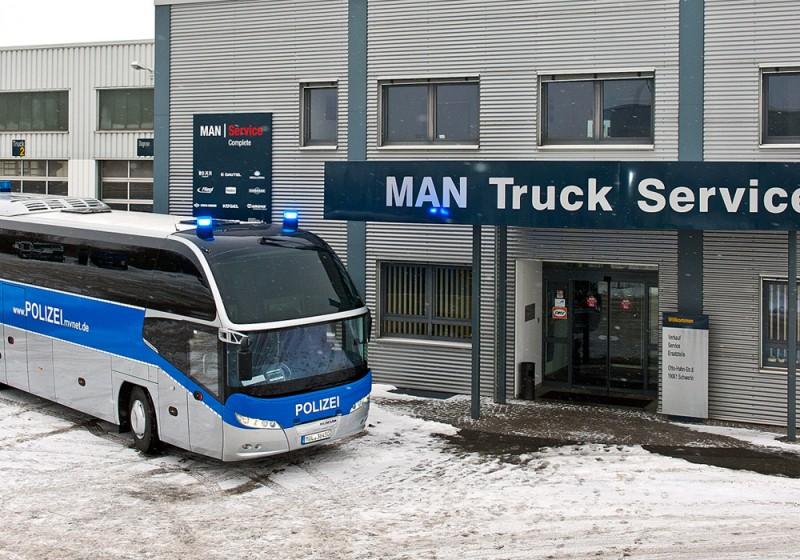 NEOPLAN Cityliner für Polizei in Mecklenburg-Vorpommern