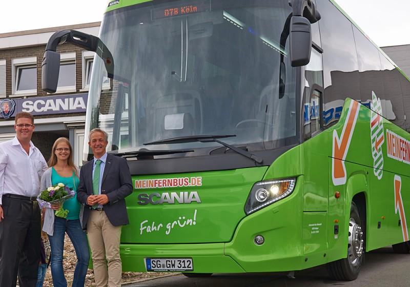 Scania Touring jetzt auch für Meinfernbus.de unterwegs