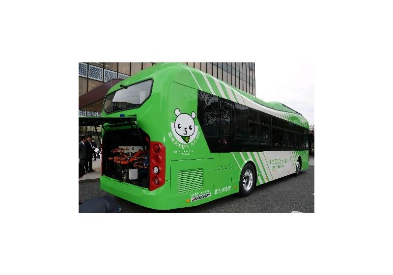 한국화이바 일본 최초 전기시내버스 공급